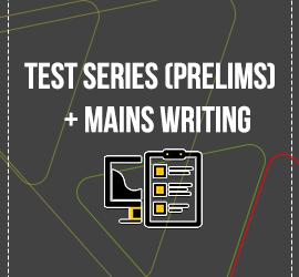 test series mains +writing